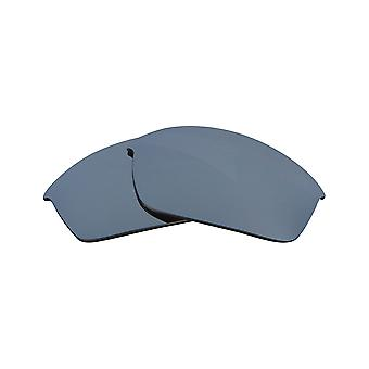 Polarized Replacement Lenses for Oakley Flak Jacket Sunglass Anti-Scratch Silver