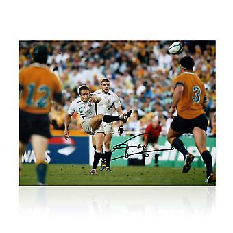 Jonny Wilkinson allekirjoitettu 2003 Rugby World Cup kuva: hetki Glory