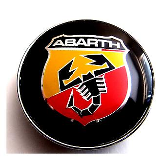 Black Abarth Car Wheel Center Caps Hub Cover 60mm 1 PCS For Models 124 Spider, 500 C, 595, 695