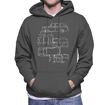 London Taxi Company Blueprint Mænd's Hooded Sweatshirt