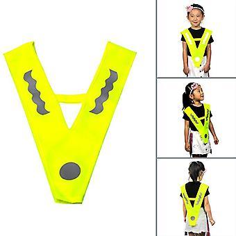Reflexní vesta- Venkovní děti prodyšné jogging běh cyklistika bezpečnostní vesta