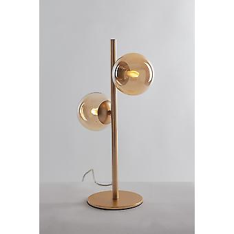 Fan Europe Luce_Ambiente_Design - Lampe de table, Satin en laiton avec diffuseurs de champagne, G9