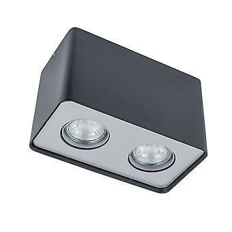 Italux Harris - Moderne Oberfläche montiert Schwarz 2 Licht LED, GU10