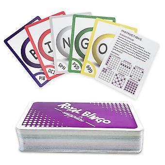 81ビンゴ通話カードのパック - ポケットサイズ、簡単読み取り