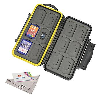 Deyard k020 water-resistant memory card case shockproof memory card carrying box: 24 slots for 12 sd