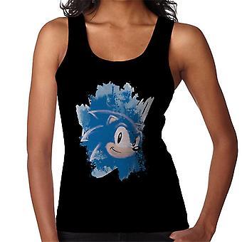 Sonic The Hedgehog Karaktär Head Brush Stroke Kvinnor' s Väst