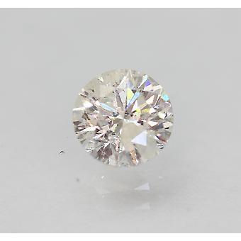 معتمد 0.57 قيراط F جولة رائعة المحسنة الماس الطبيعي 5.2mm EX CUT