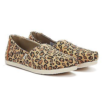 TOMS Classic Womens Leopard Print Espadrilles