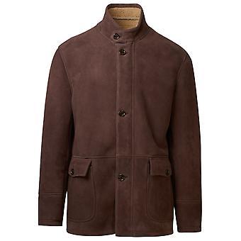 Eleventy B75giab07shy0b00805 Men's Brown Wool Outerwear Jacket