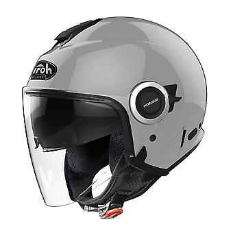 Airoh Helios Jet Color Concrete Open Face Motorcycle Helmet Grey