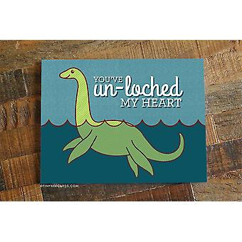 """Funny Loch Ness Monster Love Card """"you've Un-loched My Heart"""""""
