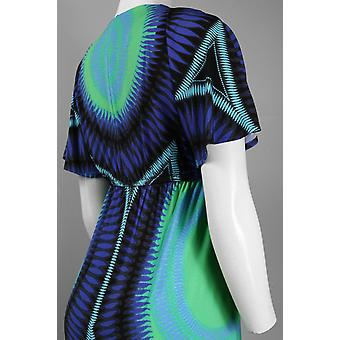 Robe babydoll en jersey d'impression abstraite sleeve