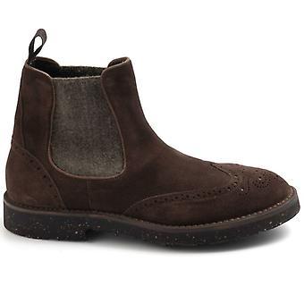 Calpierre Brun ruskind og uld mænds ankel støvle