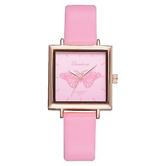 Neue Top Square Frauen Armband Uhr contracted Leder Kristall Kleid Damen