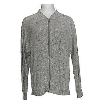 Anybody Women's Sweater Long Sleeve Cardigan Gray A367692