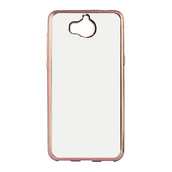 Mobiele cover Huawei Y6 2017 Contact Flex Metal Rose goud