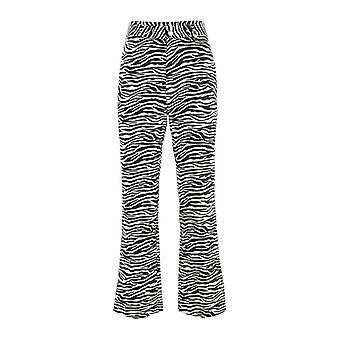 Zebra Animal Print Elegante Capris Harajuku Pantalones de Cintura Alta Pantalones