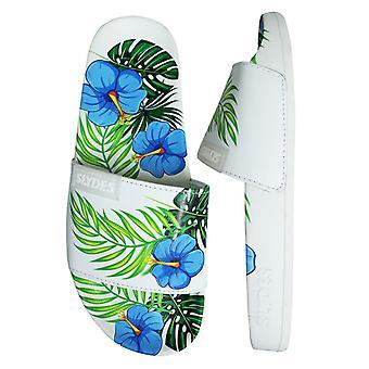 Slydes Ohana Slide Womens Slip On Flip Flop Sliders Sandals SS20 W White Blue