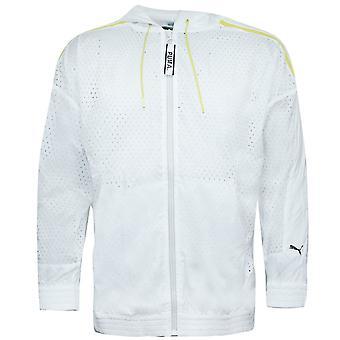 Puma Męski Zip Up Perforowana kurtka wiatrówka bluza z kapturem Top 568014 02