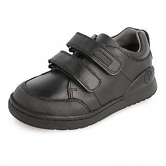 BIOMECânica dupla Velcro sapato escolar com para-choques