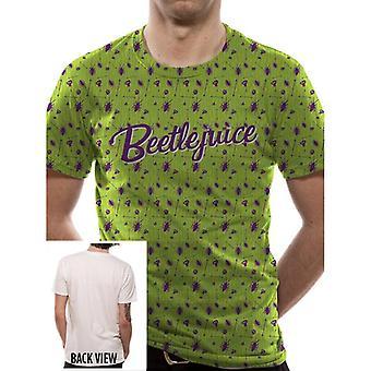Beetlejuice aikuisten Unisex Beetle Pattern Premium T-paita