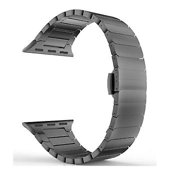Stuff Certified® Metal Strap for iWatch 40mm - Bracelet Wristband Stainless Steel Watchband Black