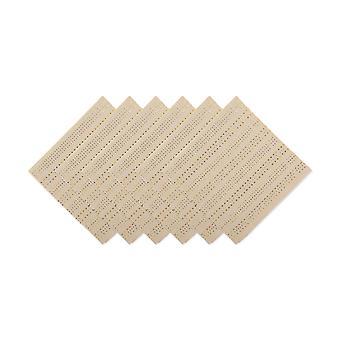 Dii plata y oro Dobby stripe servilleta (conjunto de 6)