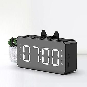 Q9 fm orologio radio specchio altoparlante bluetooth doppio termometro allarme telefono scheda multifunzione audio hd schermo smart speaker