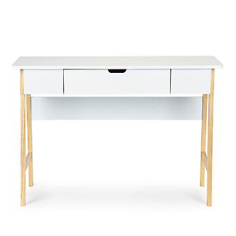 Stůl u stolu - stůl v obývacím pokoji bílý - 107,5x40x74 cm