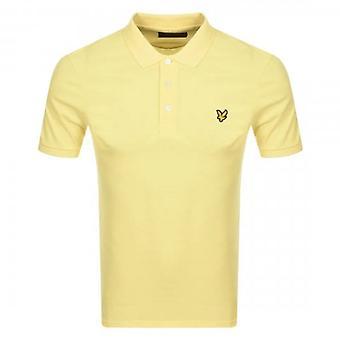 Lyle & Scott Plain Polo Shirt Lemon SP400VOG
