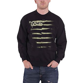 My Chemical Romance Sweatshirt Together We March Band Logo Official Mens Black