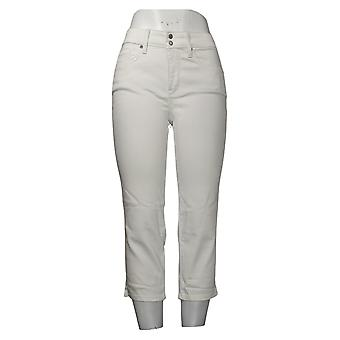 NYDJ Women's Pants Cool Embrace Skinny Crop with Side Slits White A377695