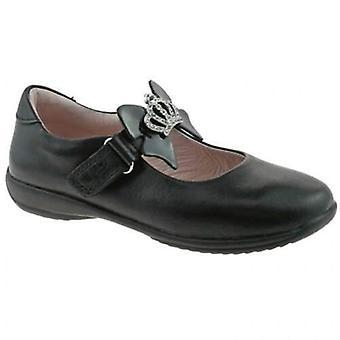 Lelli kelly girls leather sophia school black shoes