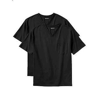 Essentials Men's Big & Tall 2-Pack Short-Sleeve V-Neck Pocket T-Shirts fit by DXL