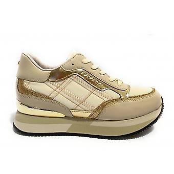Spor ayakkabı Apepazza Mod çalışan. Rochelle Kama Deri Alt / Kadın Beyaz Kumaş D21ap05