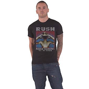 Rush T Shirt Power Windows Tour 1985 Band Logo new Official Mens Black
