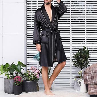 Univaatteet Faux Silk Yöasut Comfort Silkkinen Kylpytakit Jalo pukeutuminen