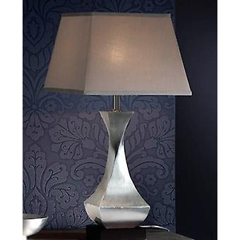 Table Lamp with Shades Rectangle & Square, Silver, Brown, Chrome Leaf, 1x E27