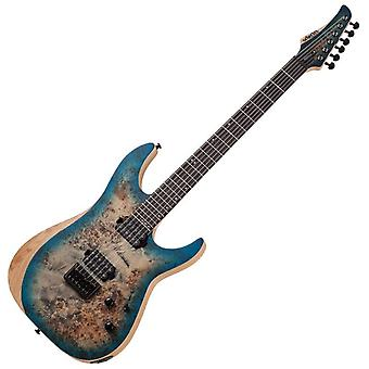 Schecter reaper-6 electric guitar (satin sky burst)