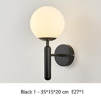 Moderni sisäseinävalaisin pohjoismainen makuuhuone lamppu kulta musta lasi sängyn vieressä valaistu sisustus led valot sisustus seinä ac85 ~ 260v