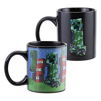 Minecraft Creeper Mob Heat Change Mug 300ml