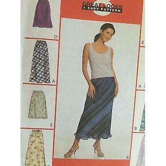 McCalls Schnittmuster 2255 Damen Misses Röcke zwei Längen Größe 12-16 ungeschnitten