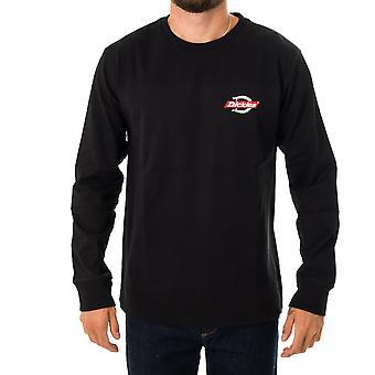 Camiseta de hombre dickies ls ruston dk0a4x86blk