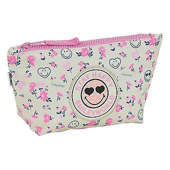 School Toilet Bag Smiley World Garden White Pink