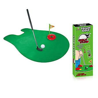 Toilet Golf, Potty Putter Set Bathroom Game Golf campo de treinamento set Golf campo putter mini treinador