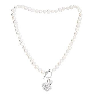 Pearls of the Orient Vita Freshwater Pearl Cherry Blossom Charm Necklace - Silver/White