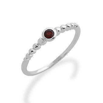 Gemondo 925 Sterling Silver 0,12 ct Garnet stapelbar månads Ring