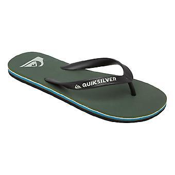 Quiksilver Molokai Flip Flops - Black / Green / Blue