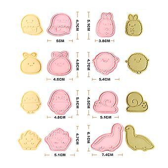 8Pcs/set Cake Mold Cartoon Shape Cookie