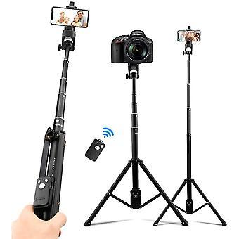 FengChun 3 in1 Kamera Handy Stativ, Selfie Stick Ausziehbares Stativ Bluetooth Fernbedienung Selfie